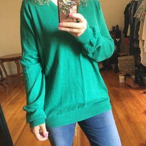 J. Crew V-neck Kelly green oversized sweater